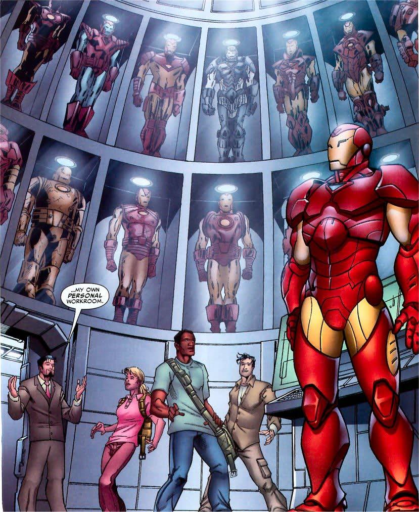 iron-man-3-hall-armures-jouets-comics