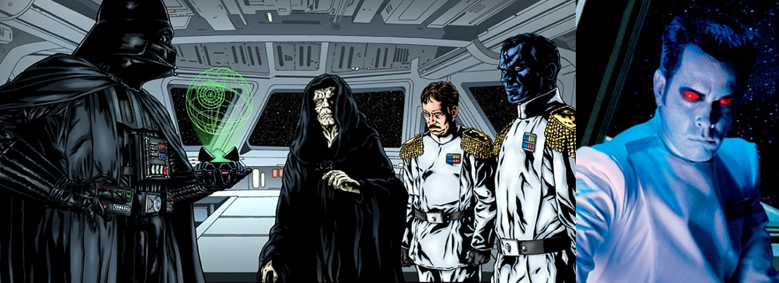 A gauche, Vador. A droite, Thrawn !