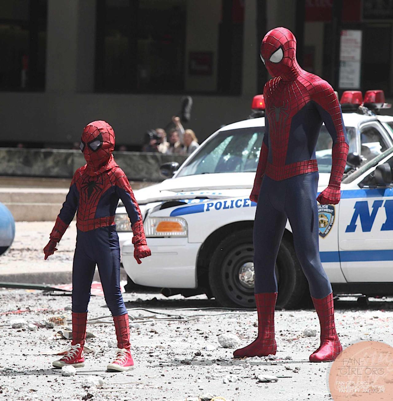 spider-man-kid-amazing-2-tournage-film-team