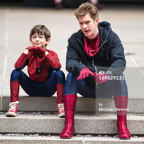 spider-man-kid-amazing-2-tournage