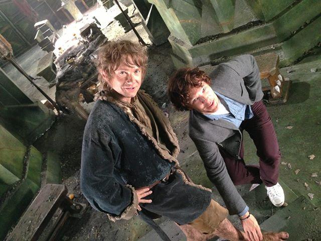 hobbit-martin-freeman-pieds-smaug-tournage-cumberbatch