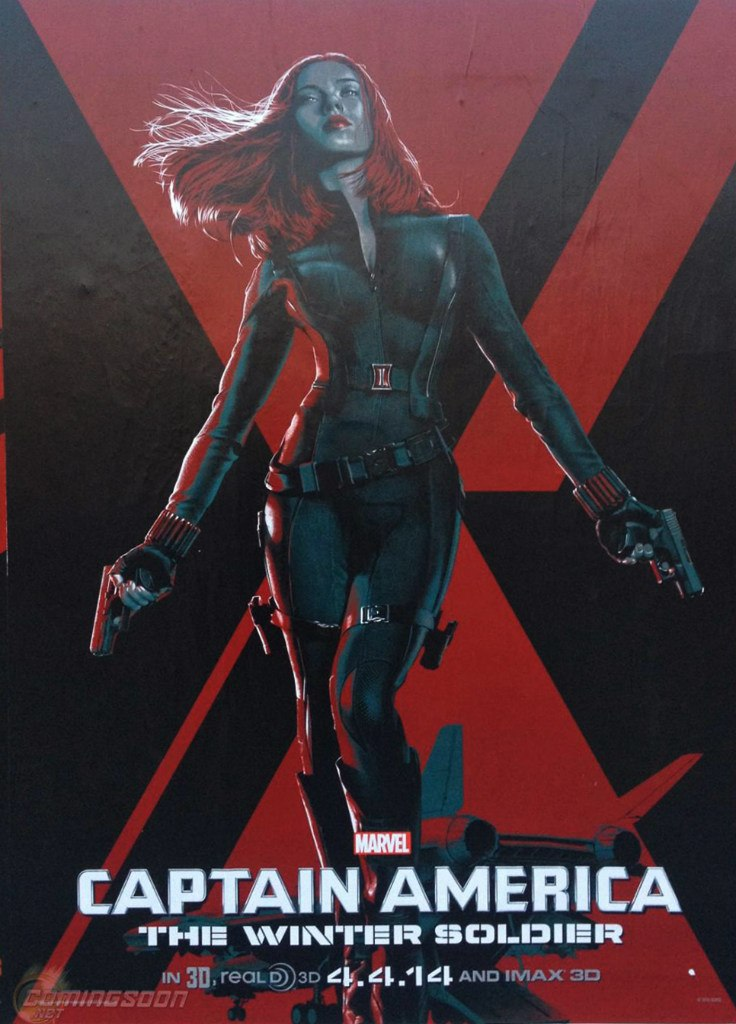 poster-stylise-captain-america-red-black-widow