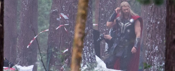 On the film set of Avengers: Age of Ultron