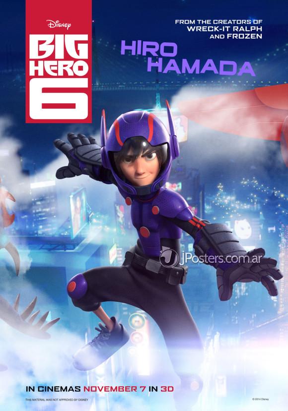 les-nouveaux-heros-disney-marvel-poster-hiro-harada