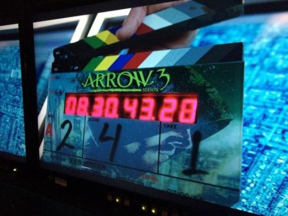 arrow-season-3-clap-tournage