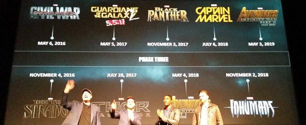 Marvel Calendrier.Marvel Le Poster Calendrier De La Phase 3 Officiellement