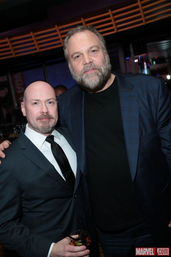 donofrio-showrunner-deknight-daredevil-red-carpter