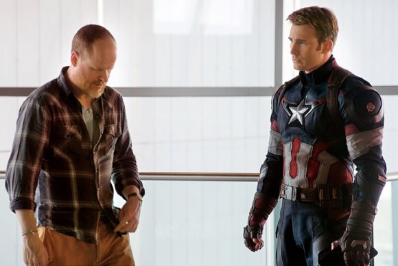 joss-whedon-chris-evans-tournage-avengers-age-of-ultron-shooting