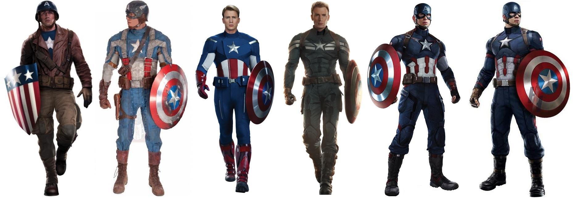 [Marvel] Captain America : Civil War (2016) - Page 4 Captain-america-costume-uniform-evolution-movie-avengers-civil-war