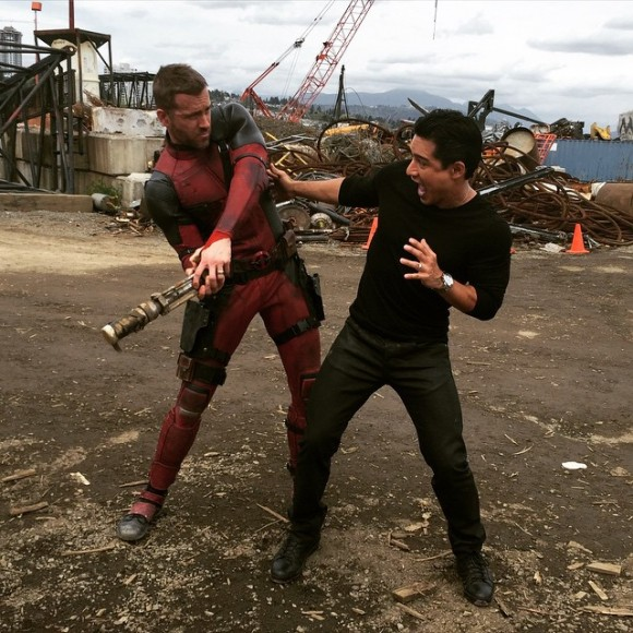deadpool-mario-lopez-movie-set