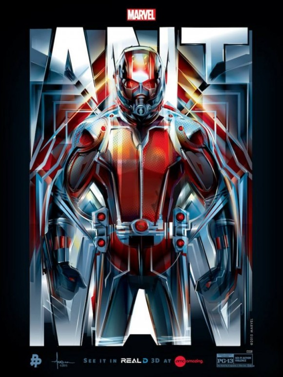 Franchise Marvel/Disney #3 Ant-man-amc-poster-suit-up-580x773