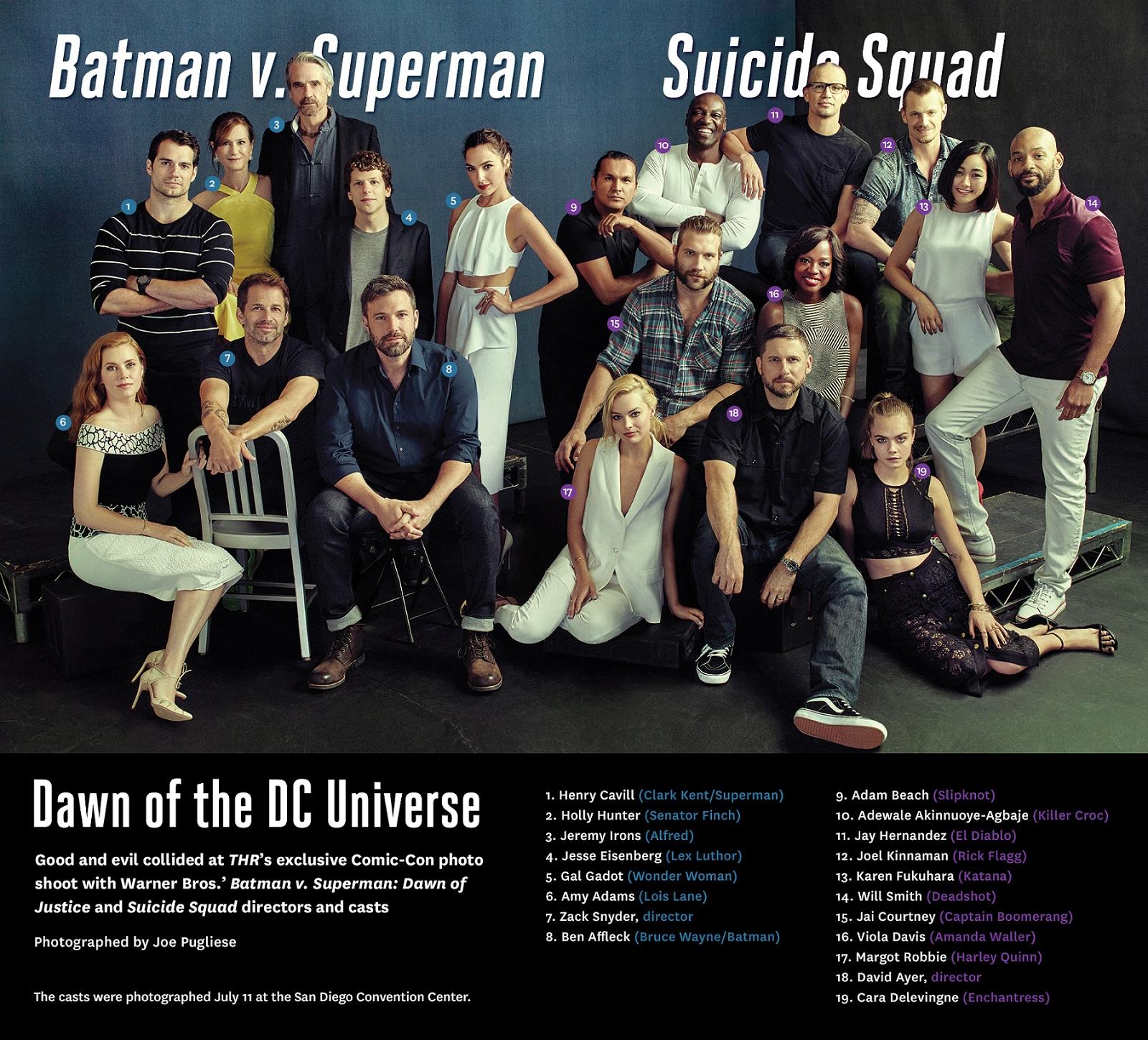 batman v superman l 39 aube de la justice suicide squad les acteurs se r unissent pour une. Black Bedroom Furniture Sets. Home Design Ideas