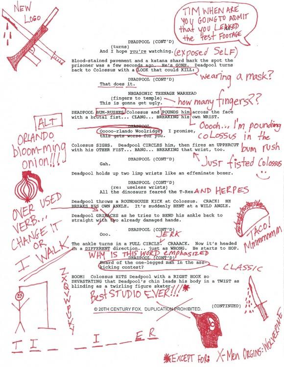 deadpool-script-page-days-movie