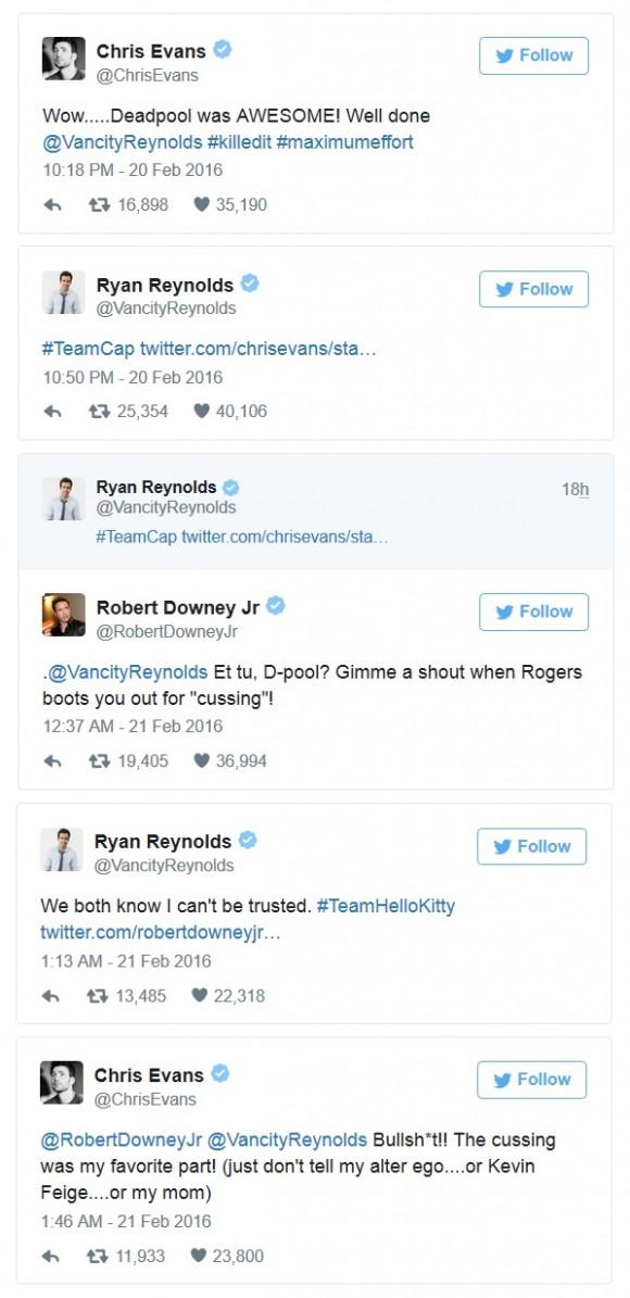 deadpool-ryan-reynolds-chris-evans-downey-tweets