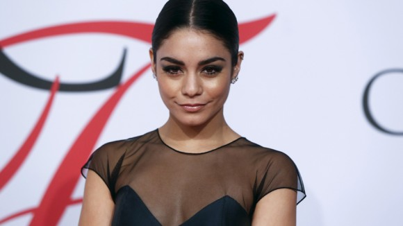 Singer Vanessa Hudgens arrives for the 2015 CFDA Fashion Awards in New York