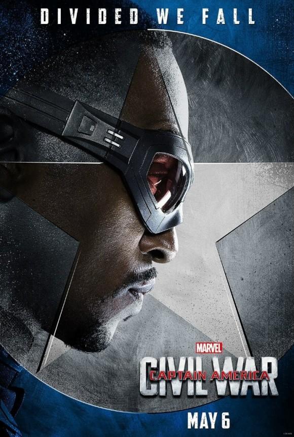 CAPTAIN AMERICA CIVIL WAR  - Page 10 Captain-america-civil-war-poster-falcon-580x860