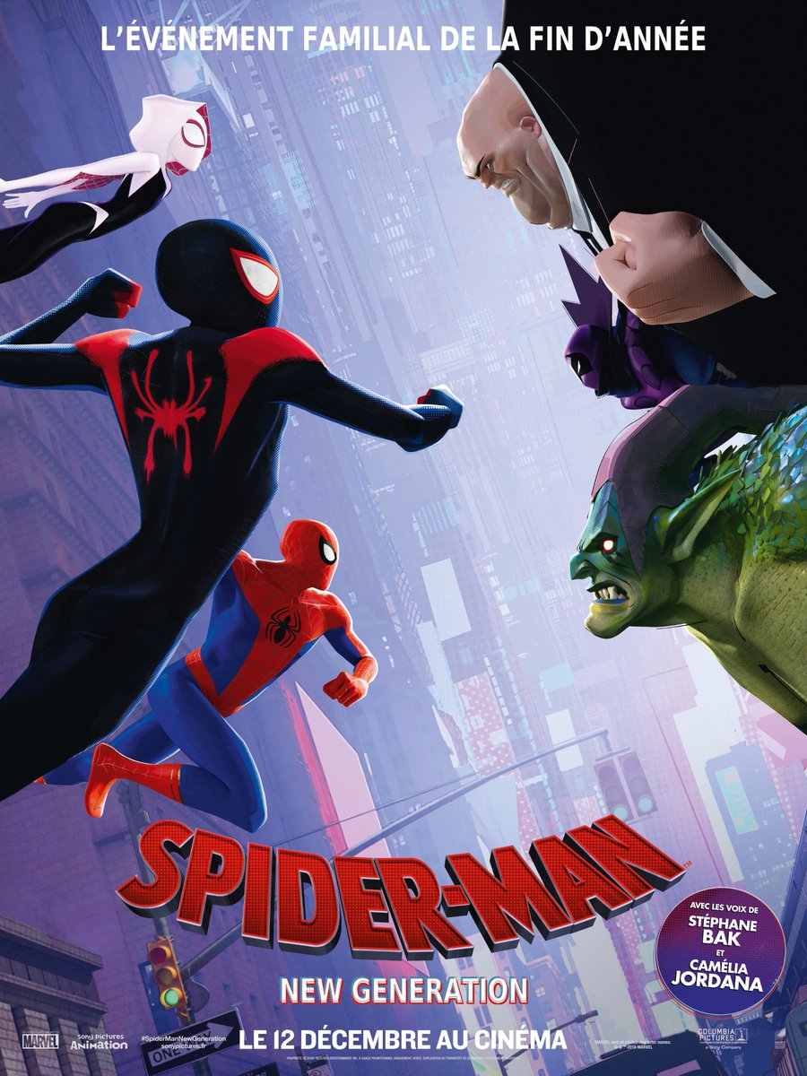 spiderman  new generation  six posterspersonnages